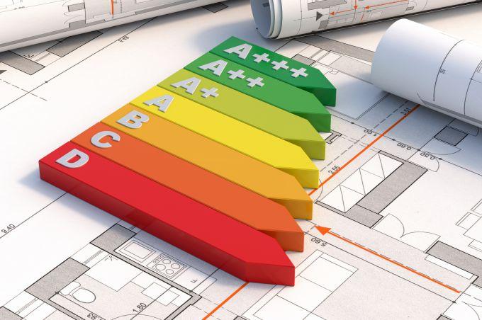 Energielabels op bouwtekeningen