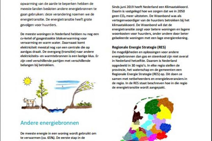 Voorzijde infoblad Energietransitie voor huurders
