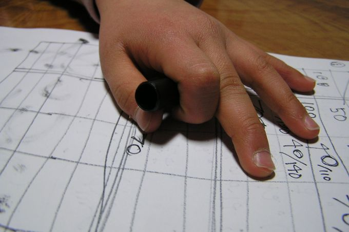Puntentelling op papier