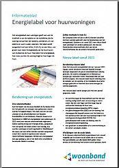 Voorzijde infoblad Energielabels