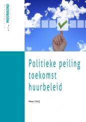 Cover van het Woonbondrapport met een politieke peiling over de toekomst van het huurbeleid