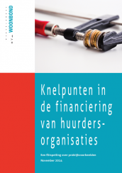 Cover rapport knelpunten financiering huurdersorganisaties