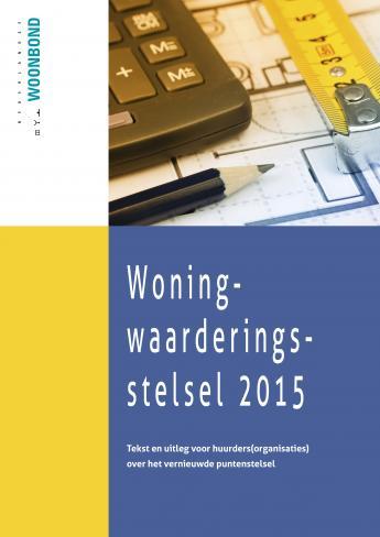 Cover Brochure Woningwaarderingstelsel 2015