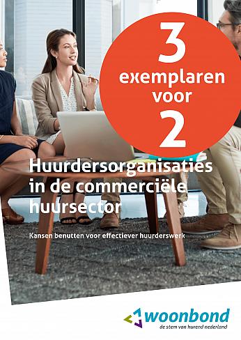 """Cover """"Huurdersorganisaties in de commerciële sector"""" (3 exemplaren voor de prijs van voor 2)"""