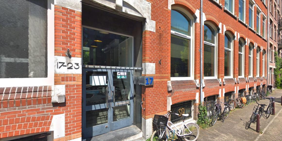 Het kantoor van de Woonbond aan de Nieuwe Achtergracht in Amsterdam