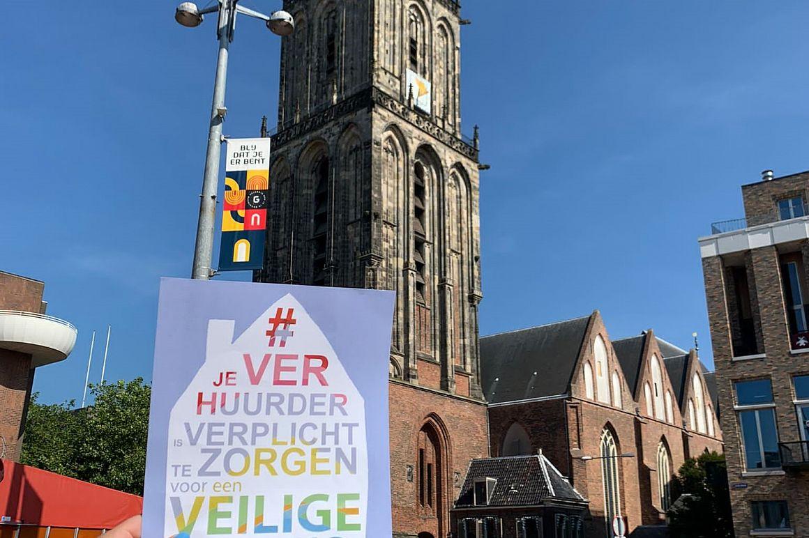 Flyeractie in Groningen