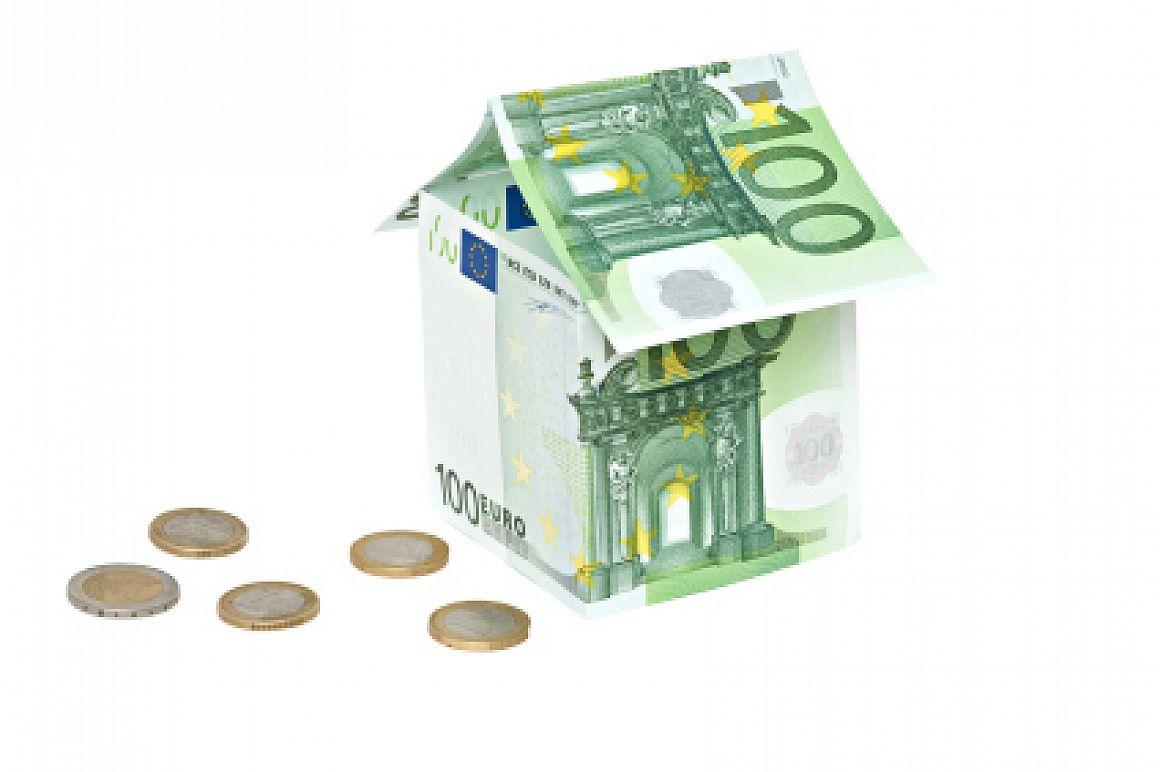 Huisje van eurobiljet