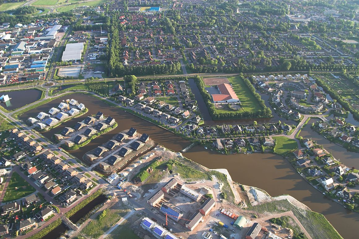 Luchtfoto van Joure, Friesland