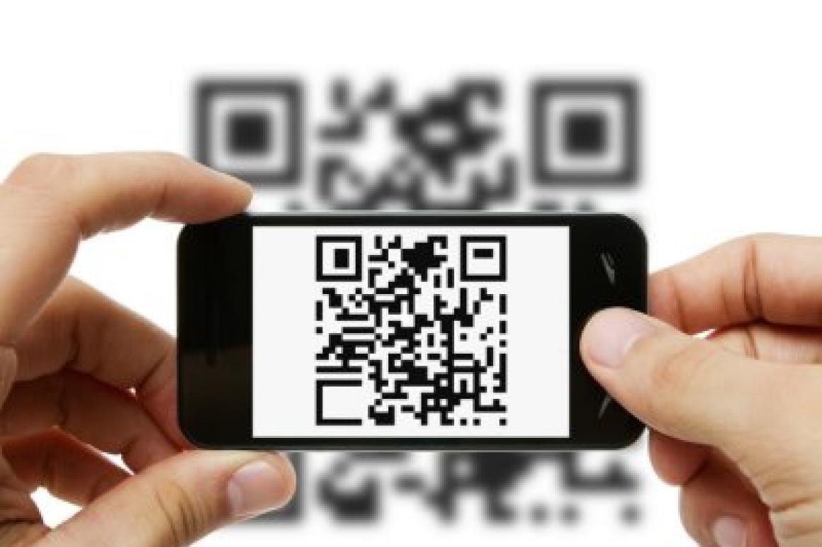 QR-code op smartphone