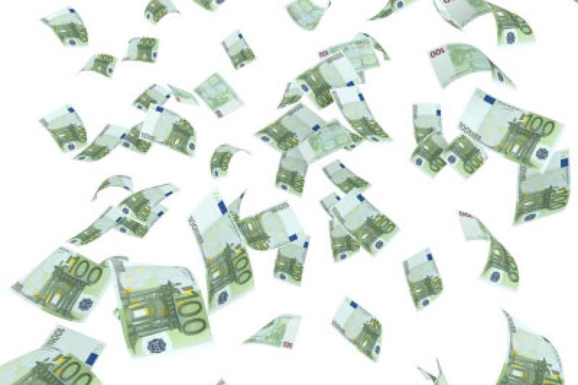 Rondvliegende eurobiljetten