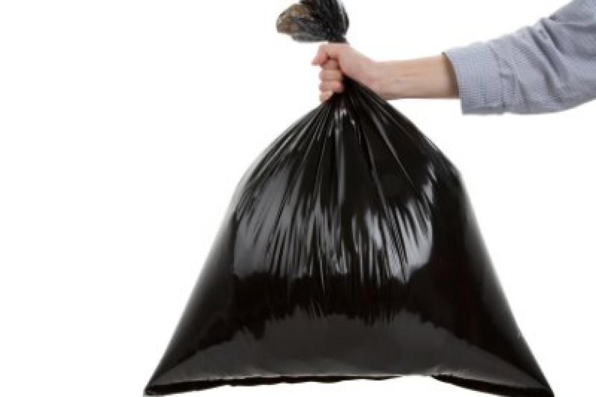 vuilniszak weggooien