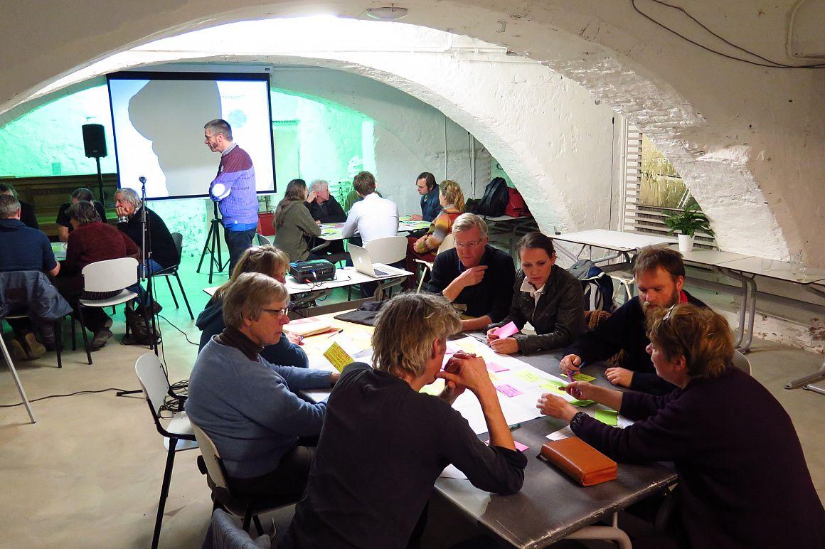 Brainstormsessie tijdens eerste bijeenkomst Cooplink (21-1-2017)