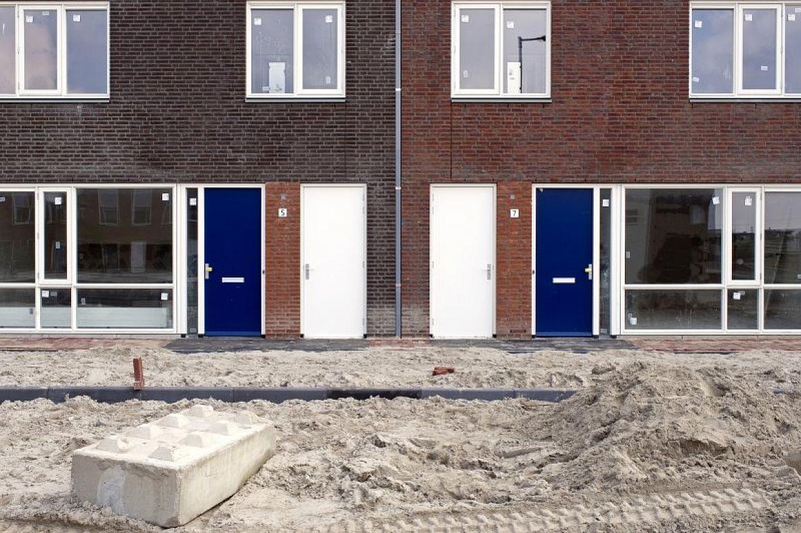 Net opgeleverde nieuwbouwwoningen