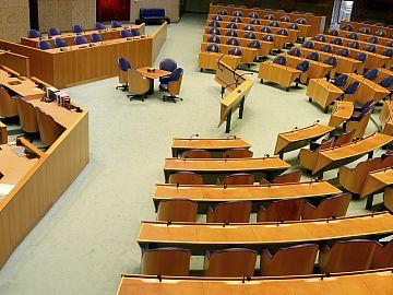 Plenaire vergaderzaal in Tweede Kamer