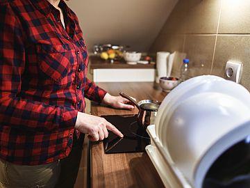 koken op inductiekookplaat