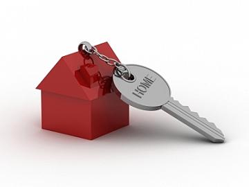 Sleutelhanger met huisje