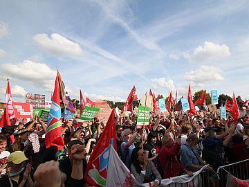 Demonstranten tijdens Woonprotest 12 september
