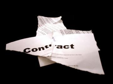 Verscheurd contract