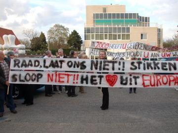 Demonstratie bewoners Europarei