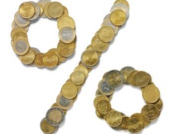 Procentteken in euromunten