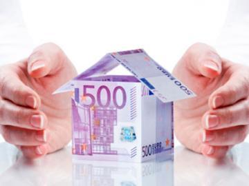 Huisje van 500 eurobiljet
