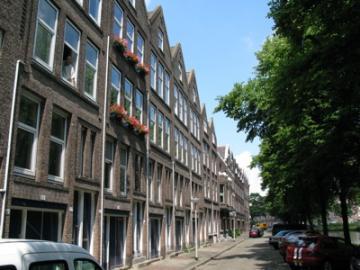 Straat in het Rotterdamse Nieuw Crooswijk