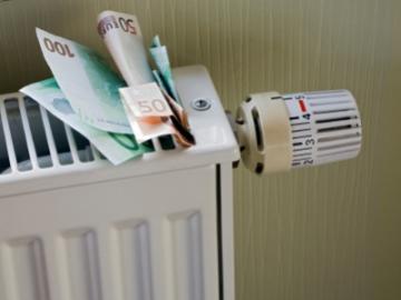 Radiator met eurobiljetten