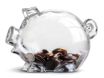 transparant spaarvarken