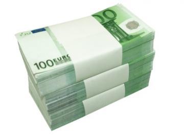 Stapels 100-eurobiljetten