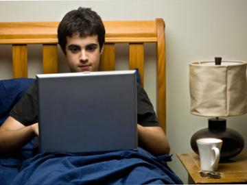 Student op kamer