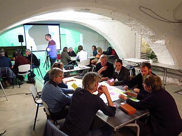 Brainstormsessie tijdens eerste bijeenkomst Cooplink