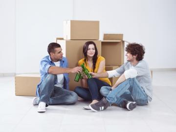 Huisgenoten in nieuwe woning