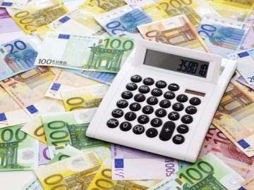 Eurobiljetten plus rekenmachine